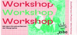07.12. // 2Farben Poster – Workshop